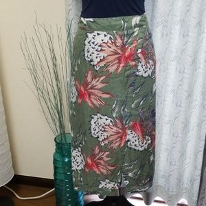 Roxy Endless Valley Midi Tropical Floral Skirt